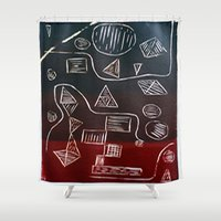 triforce Shower Curtains featuring Triforce by Lewis Lawton
