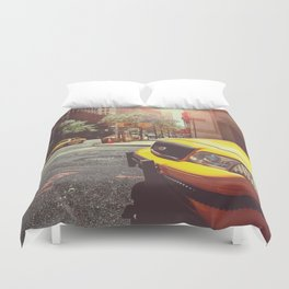 NYC Taxi Cab Duvet Cover