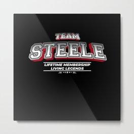 Team STEELE Family Surname Last Name Member Metal Print