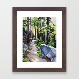 Stay on the Path Framed Art Print