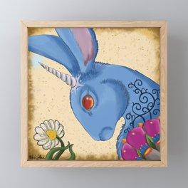Unicorn Bun Framed Mini Art Print