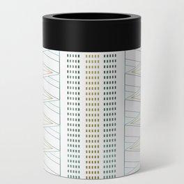 Gold Aqua Geometric Pattern 1.0 Can Cooler