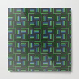 Abstract Windmills Pattern Metal Print