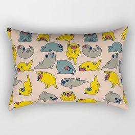 Pugs Asanas Rectangular Pillow
