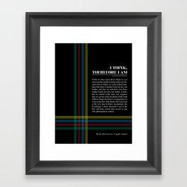 Philosophia II: I think, therefore I am Framed Art Print