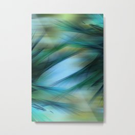 Soft Feathered Lights Abstract Metal Print