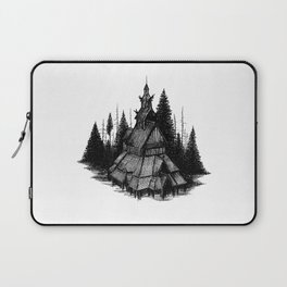 Fantoft Stave Church Laptop Sleeve