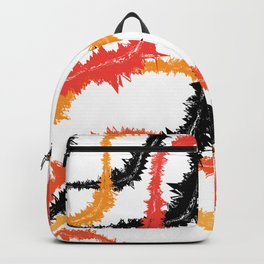 Fuzzy Curvy Fall Modern Lines Backpack