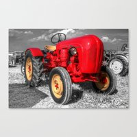 porsche Canvas Prints featuring Porsche Tractor by Rob Hawkins Photography