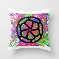graffiti Throw Pillows featuring Graffiti by Rosemetamorphosis