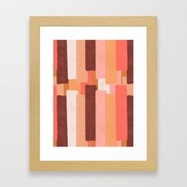 Line In Coral #society6 #abstractart Framed Art Print