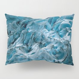 Blue Ice Glacier in Norway - Landscape Photography Pillow Sham