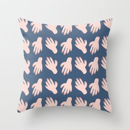 Hands on Hands on Hands Throw Pillow