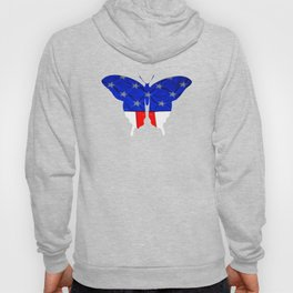 American Butterfly Flag Hoody