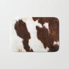 Cowhide Brown Spots Bath Mat