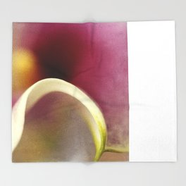 Calla Lily AbstractII Throw Blanket