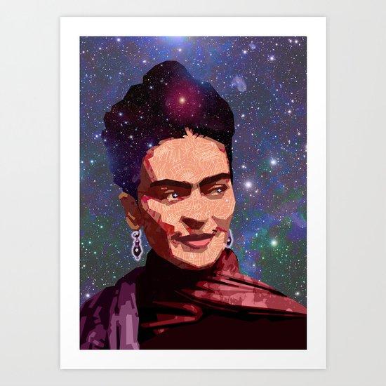 Cosmic Frida Art Print