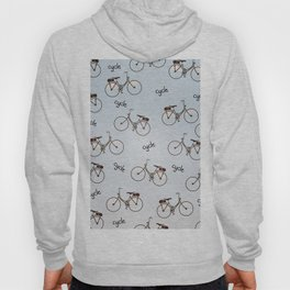 cycle biking poster pattern. Hoody