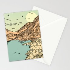Mountain, Train & Lake Stationery Cards
