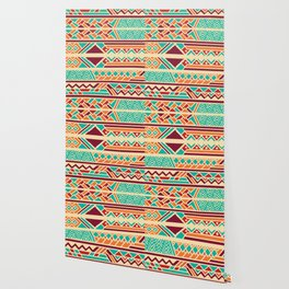 Tribal ethnic geometric pattern 038 Wallpaper