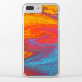 Marbled IX Clear iPhone Case