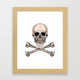 skull and crossbones Framed Art Print