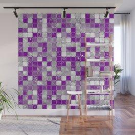 Graysexual Pride Glistening Square Tiles Wall Mural
