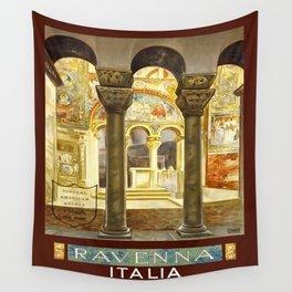 Vintage Ravenna Italy Travel Wall Tapestry