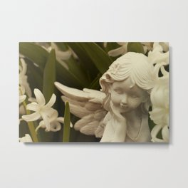 Angel and Hyacinth Metal Print