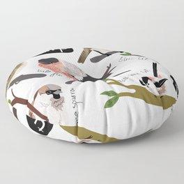 British Garden Birds Floor Pillow