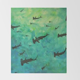 Every Week is Shark Week Throw Blanket