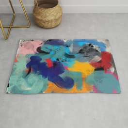 Abstract Expressionism Art Colourful Pattern Rug