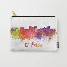 El Paso skyline in watercolor Carry-All Pouch