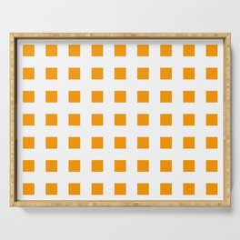 square and tartan 51- orange Serving Tray