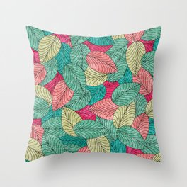 Let the Leaves Fall #06 Throw Pillow