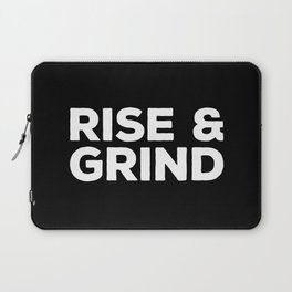 Rise & Grind Gym Quote Laptop Sleeve