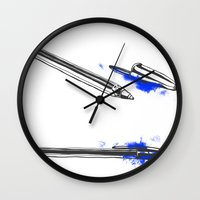 pen Wall Clocks featuring Pen by david magila