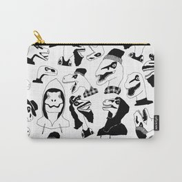Hipster Velociraptors Carry-All Pouch