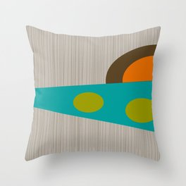 Abstract Mid-Century Throw Pillow