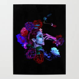 Preternatural Lascivia; Leeching Lust / A Vampire's Dilemma-Clear Floral Version Poster