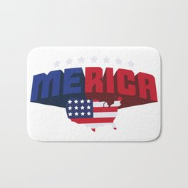 4th Of July Independence Day Merica Bath Mat