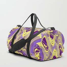 Yellow and Purple Dancing the Tango Duffle Bag
