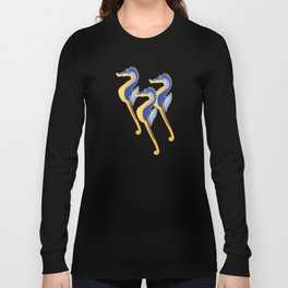 Fresco of the Seahorses. Long Sleeve T-shirt