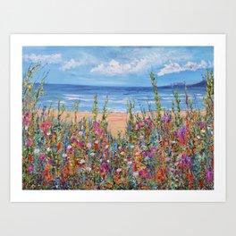 Summer Beach, Impressionism Seascape Art Print