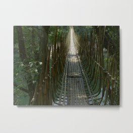 Hanging Bridge in the Indian Jungle 2 Metal Print