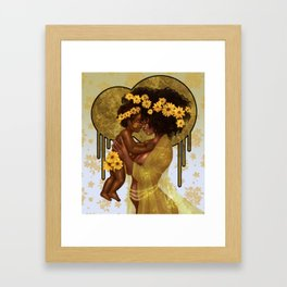My Light, My [Sun]flower Framed Art Print