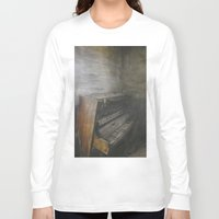 piano Long Sleeve T-shirts featuring Piano by Claudia Ma