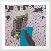 dad Art Prints featuring DAD by NouriHeba