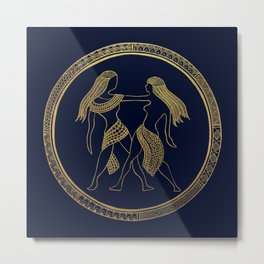 Golden Zodiac Series - Gemini Metal Print