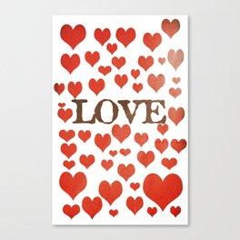 Love Heart Valentines Design  Canvas Print